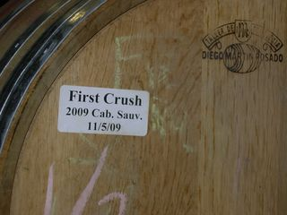 First Crush 2009 harvest cab