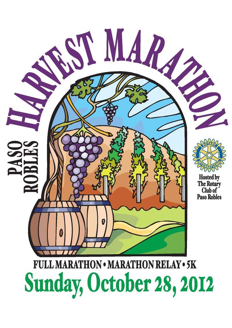 PR Harvest Marathon logo with date